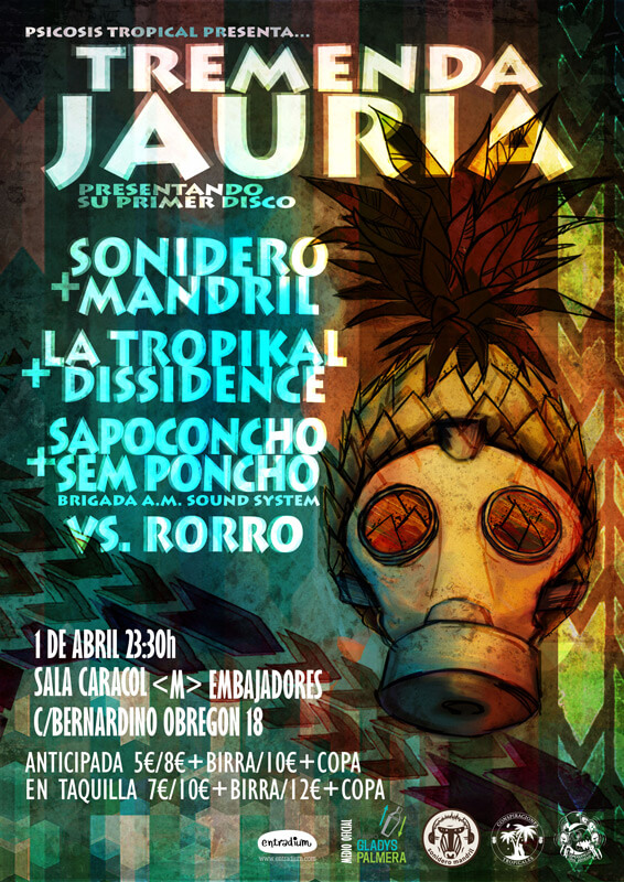 1-JUL: Tremenda Jauría en concierto, presentando su primer disco.