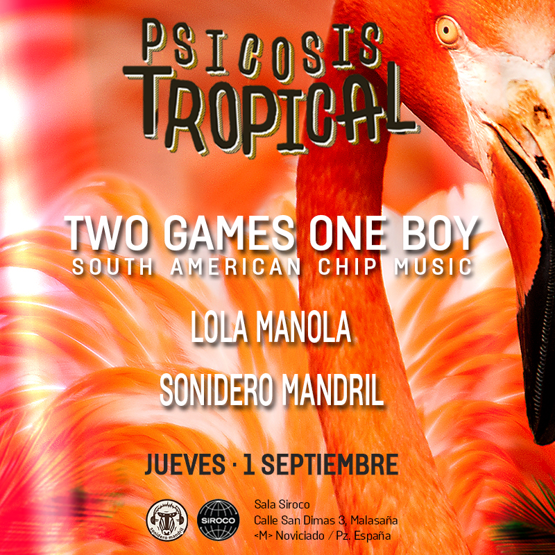1-SEP: 2G1B en Jueves de Psicosis Tropical en la Siroco