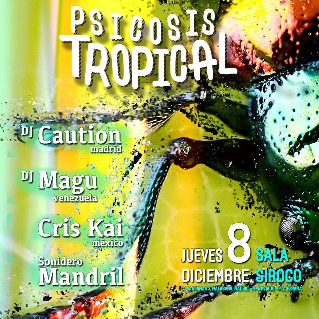 8-DIC: Dj Caution, Dj Magú, Cris Kai  y Sonidero Mandril